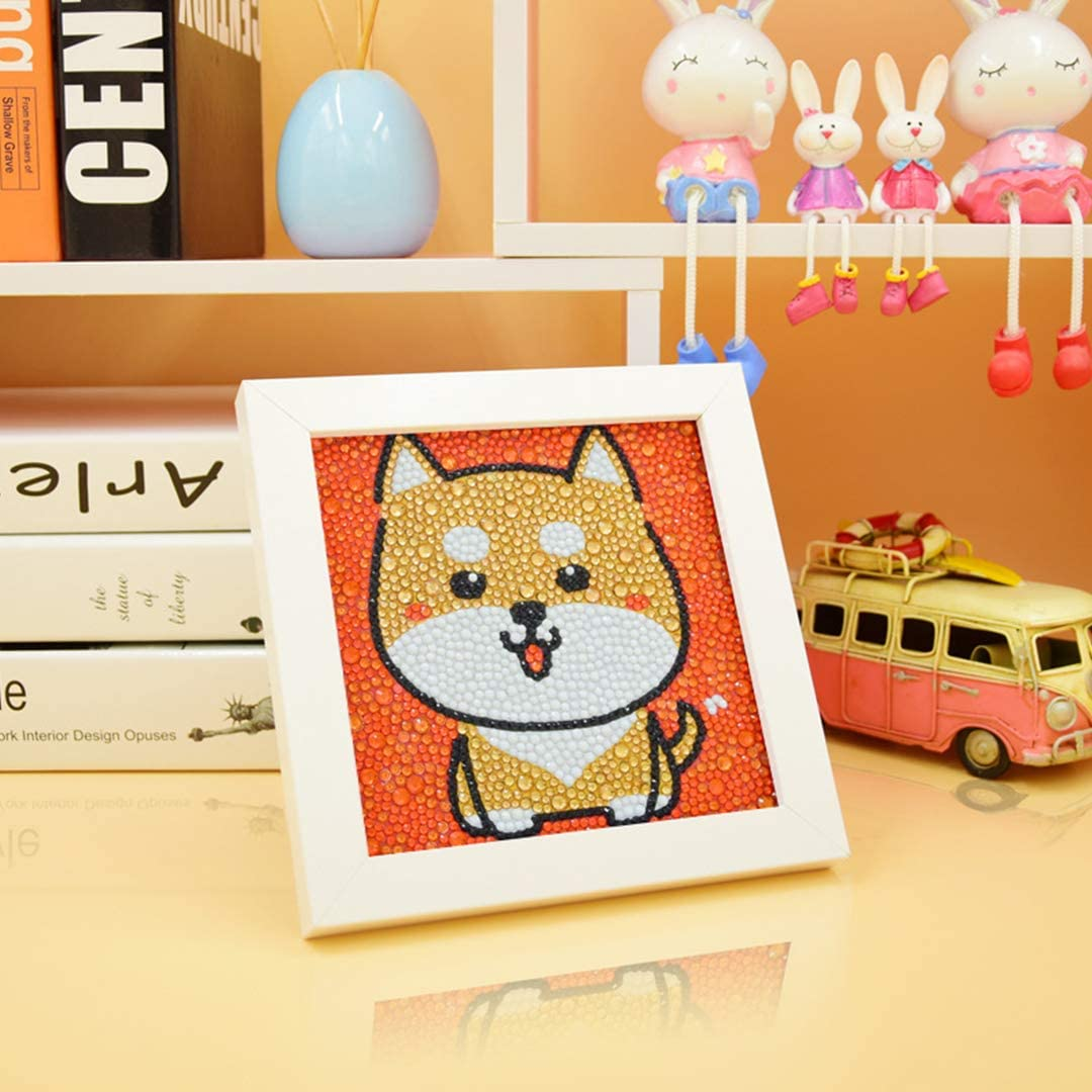 Painting by Numbers Kits Handmade Arts and Crafts Set for Children with Frame Snail Multifit 5D DIY Diamond Painting Full Drill Kits for Kids