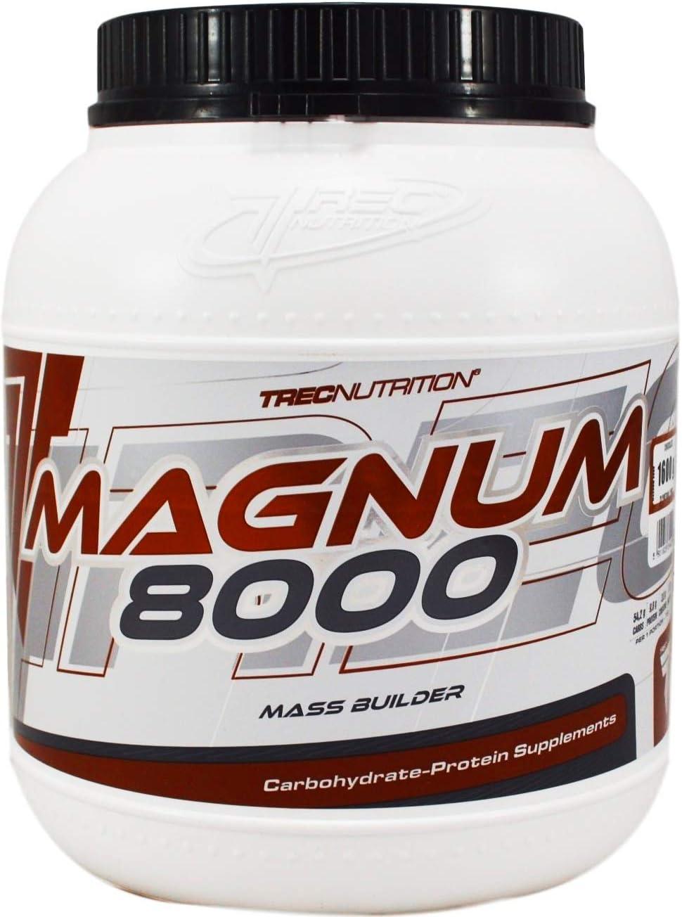 TREC Nutrición Magnum 8000 – Polvo + Creatina de Proteína de Suero Para Masa / Peso / Tamaño / Fuerza Caramelo & Vainilla