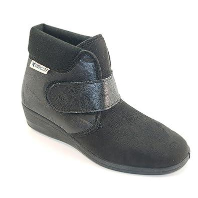 054 Micraelast Hergos H Noir-Chaussure Pour Oignon valgo Confortable - Noir - Noir, 37 EU