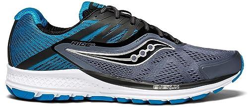 Saucony Men s Ride 10 Fitness Shoes Grigio Nero (Gry Blk Blu 8) f228a02ac79
