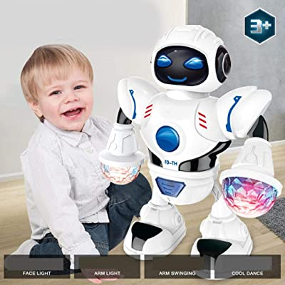 Weardear Toddler Smart Robot, Multifunctional LED Lights Dance Music Kids Toys, Astronaut Robot for Kids and Toddlers: Home & Kitchen