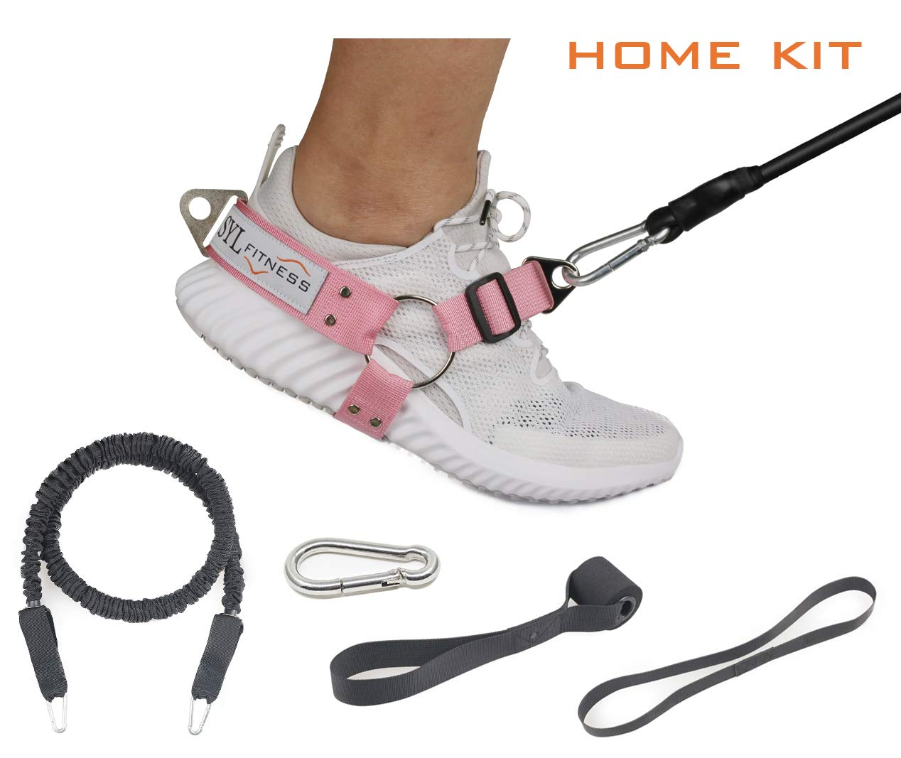 SYL Fitness Glute Workout Kickback Strap for Cable Machine Leg Resistance Booty Bands Exercise at Home Gym Equipment aux Femmes)
