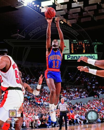 Isiah Thomas 1990 NBA Finals Action Photo 8 x 10in