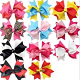 Dogs Kingdom Handmade Polka Dot Swallowtail Dog Cat Puppy Hairpin Mixed Colors Swallowtail Butterfly Knot Dog Hairpin Bow Hairpin Jewelry 10Pcs Swallowtail
