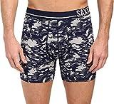 SAXX UNDERWEAR Men's 3 Six Five Boxer Heather Camo/Navy Boxer Briefs XL