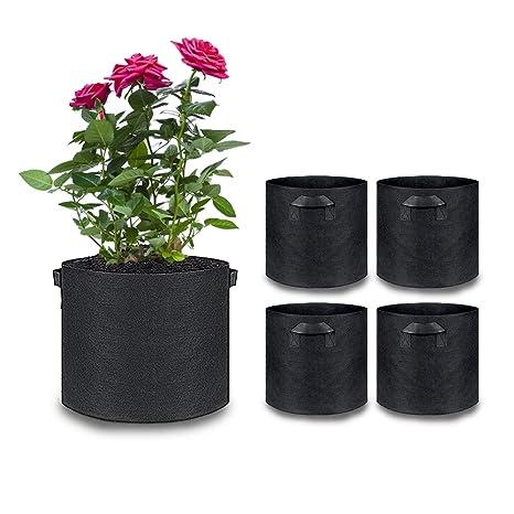 Pulvillus - Bolsas de Cultivo para Plantas, Color Negro, 5 ...