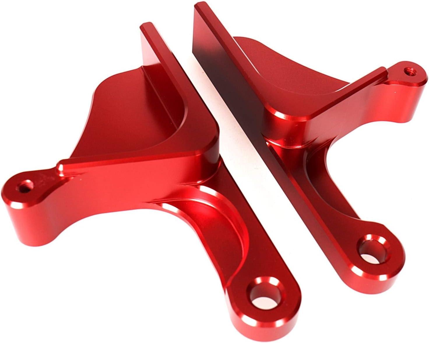 ZXC Izquierda y Derecha Rojo Billet Aluminio anodizado Puerta Manejar Conjuntos Aptos for la Can-Am Maverick X3 2017 2018 2019 La instalación es Simple y Conveniente (Color : Red)