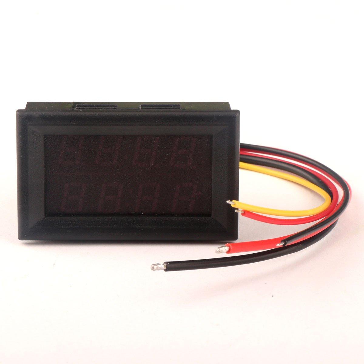 DROK&reg: Digital Voltmeter / Amperemeter DC 0-33V / 0-3A 12V 0, 28 ...