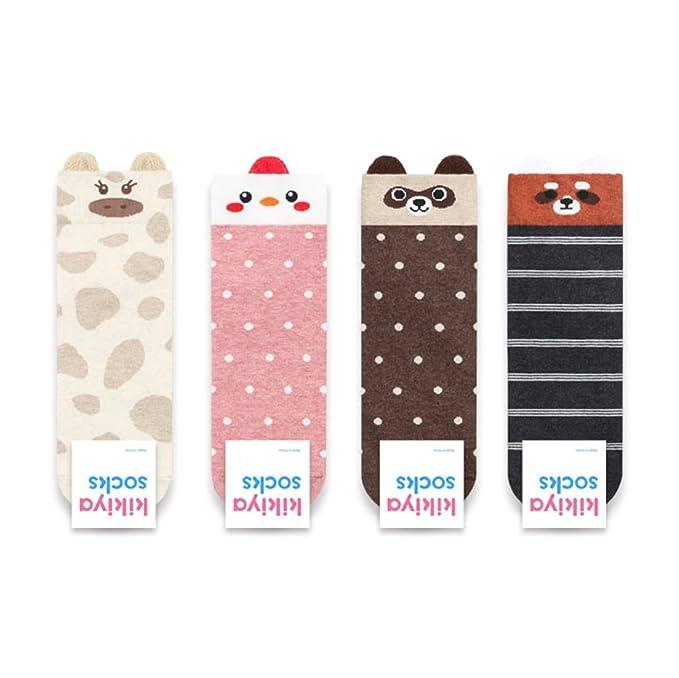 Calcetines con orejas: jirafa, gallina, mapache, zorro: Amazon.es: Ropa y accesorios