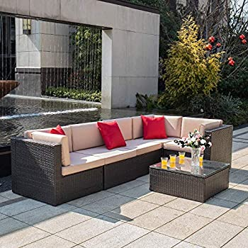 Amazon.com : Best Choice Products 7-Piece Modular Outdoor Patio ...