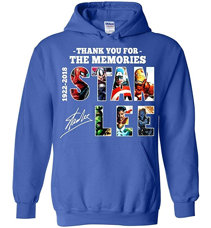 Amazon.com: Stan-Lee Thanks for Memories Vintage Hoodies Adult and Youth Size: Clothing