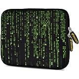 Amzer 10.5-Inch Designer Neoprene Sleeve for Tablet, eBook, Netbook - Green Data (AMZ5076105)