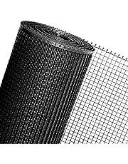 Kunststof gaas schermen 122 cm breedte verkocht per meter plastic kippengaas schermen zwart