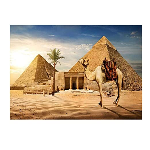 Kentop DIY 5D Diamond Painting Set - Camello y pirámide - 5D ...