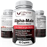 Buy Alpha Male Natural Testosterone Booster for Hypertrophy, Energy and Strength with Horny Goat Weed & Tongkat Ali