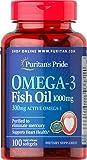 Puritan's Pride 普丽普莱 OMEGA-3欧米伽深海鱼油100粒 海外直邮 (亚马逊海外卖家)