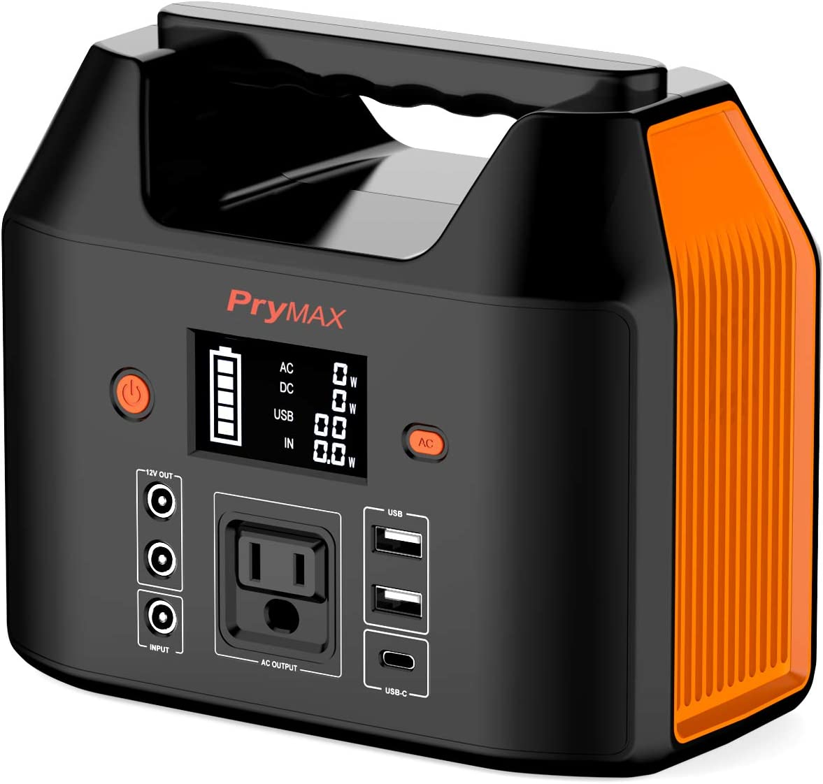 PRYMAX Portable Power Station, 178Wh Solar Generator CPAP Backup Battery Pack with LED Flashlight,110V/150W(Peak 200W) Pure Sine Wave,AC Outlet, QC3.0 USB,for Outdoors Camping Travel Emergency