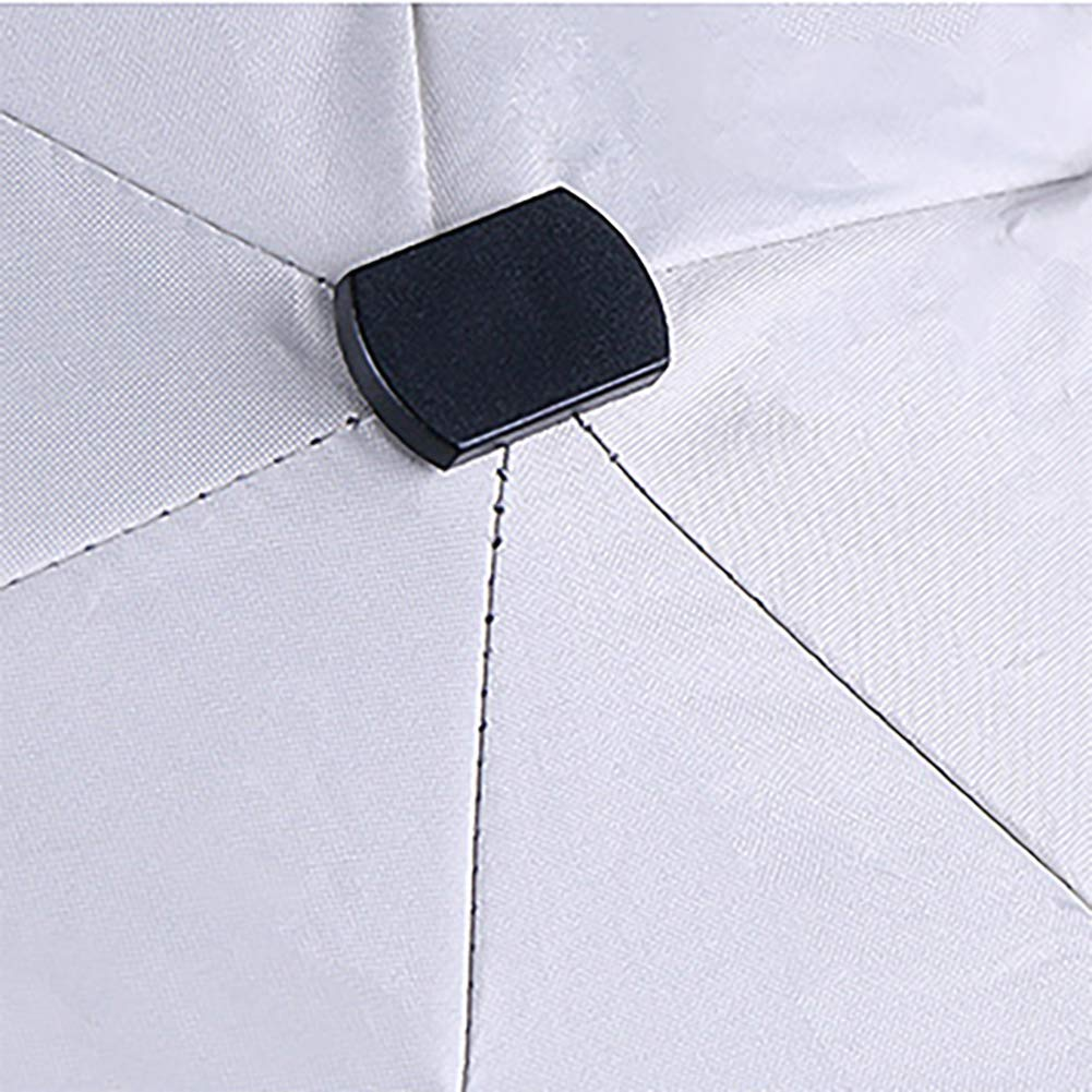 Ligero para f/ácil Transporte port/átil Negro Cierre Plegable Resistente al Viento Plegable Paraguas antiUV JIALI Mini Paraguas Compacto Resistente al Agua