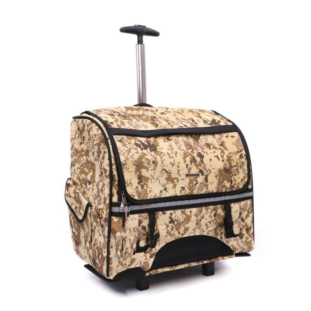 Camouflage EDYUCGA Pet Trolley Cases Cats And Dogs Out Portable Backpacks Portable Cage Travel Boxes,Camouflage