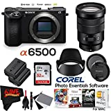 Sony Alpha a6500 Mirrorless Digital Camera (Body Only) International Version (No Warranty) + 18-105mm f/4 G Lens Bundle