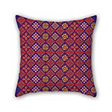 PILLO 18 x 18 inches / 45 by 45 cm Bohemian pillow cases ,each side ornament and gift to chair,outdoor,gf,office,relatives,teens girls