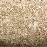 ROSEROSA Peel & Stick Backsplash Instant Granite Covering Emperado Sapphire Botticino Marble Vinyl Wall Paper Self Adhesive Shelf Liner Table Reform (PGF4710-2 : 2.00 Feet X 6.56 Feet)
