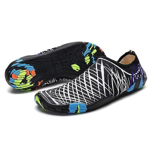 Zapatos Zapatillas de Agua Ultraligero para Hombre Mujer, Escarpines acuáticos Aire Libre Antideslizante excelente para la maroyía de Las Actividades ...