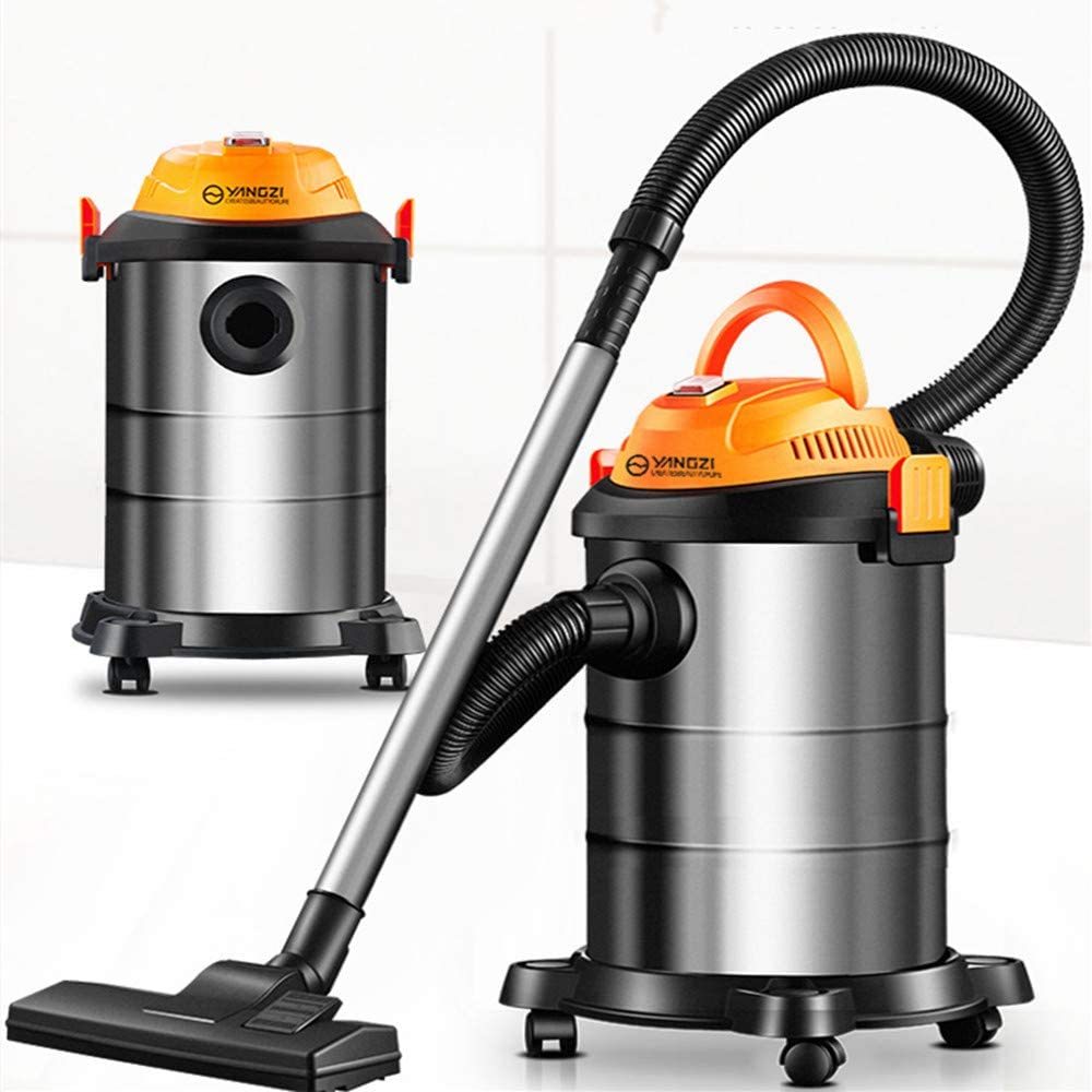 Vacuum Cleaner Household Cartridge Vacuum Cleaner Small Machine Industrial Dry and Wet Blowing Three-Purpose Carpet Type Dehumidifier Vacuum Cleaner,Blackorange