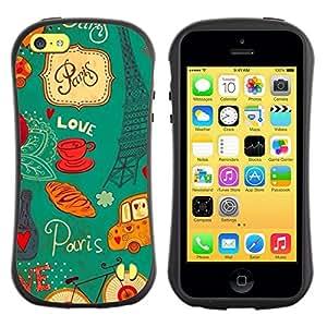 "Pulsar iFace Series Tpu silicona Carcasa Funda Case para Apple iPhone 5C , Eifel Torre Francesa Francia París"""