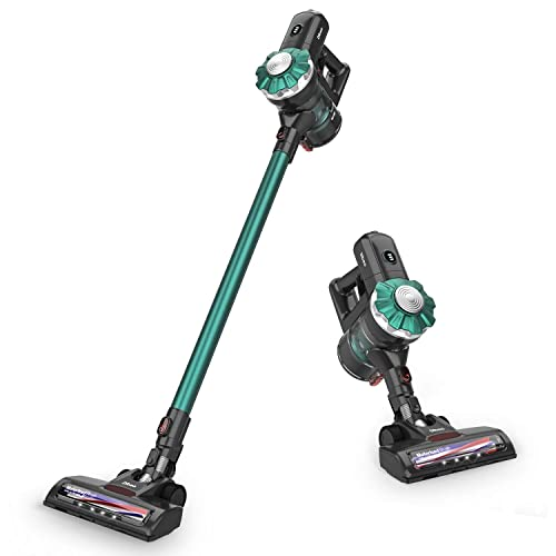 Dibea Cordless Vacuum Cleaner 12KPa Powerful Suction 150W Motor 2 in 1 Cordless Stick Handheld Vacuum for Home Hard Floor Carpet Car Pet TT8 Green