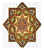 Chaoran 1 Fleece Blanket on Amazon Super Silky Soft All Season Super Plush Arabian Decor etVintage Floral Geometrical Pattern With Turkish Ottoman Calligraphic Arttyle Old Boho Print Accessories