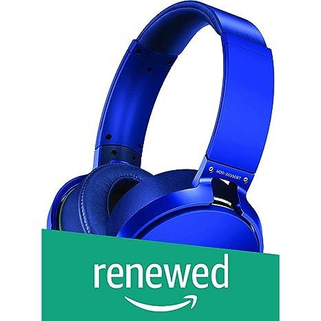 Renewed  Sony MDR XB950B1 On Ear Wireless Extra BASS Headphones  Blue  On Ear