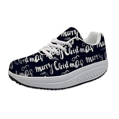 0350ae67e5d6f Amazon.com | Bigcardesigns Christmas Designs Toning Shoes Lace-ups ...