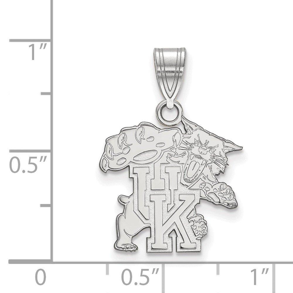 Solid 925 Sterling Silver University of Kentucky Medium Pendant