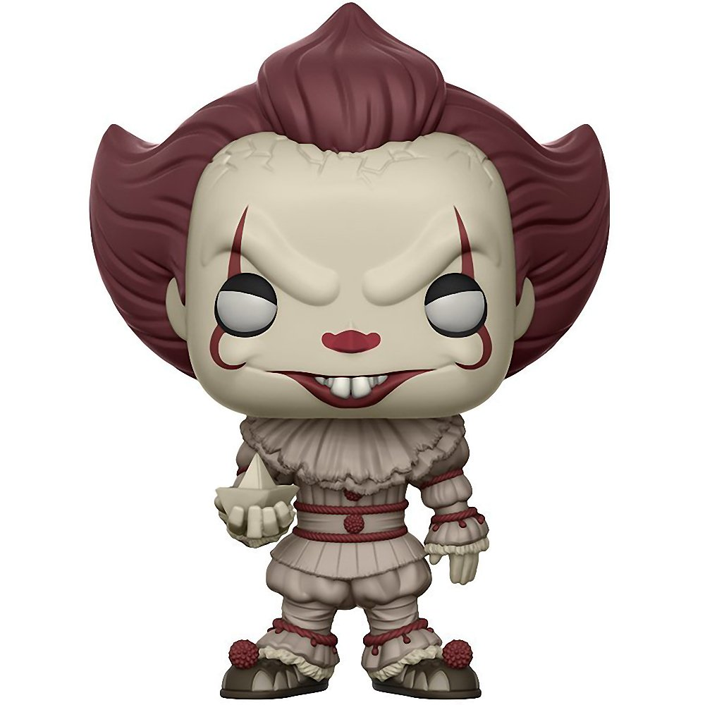 : It x POP Movies Vinyl Figure /& 1 POP Chase Edition w// Boat BCC9UL94 Compatible PET Plastic Graphical Protector Bundle #472 // 20176 - B Funko Pennywise