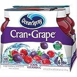 Ocean Spray Juice Drink, Cran-Grape, 10 Ounce Bottle (Pack of 6)