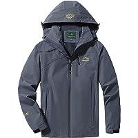 LUI SUI Hombre Chaqueta impermeable para la lluvia Al aire libre Deportes ligeros Prendas de abrigo Resistente al viento…