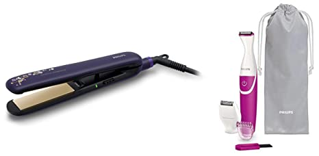 Philips Straightener (BHS386) & Bikini Trimmer (BRT382/15) Combo