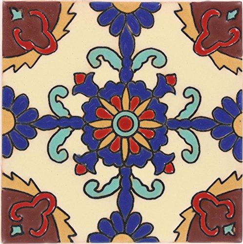 Tierra y Fuego Box of 45-4¼ x 4¼ Rosario - Santa Barbara Malibu Tile