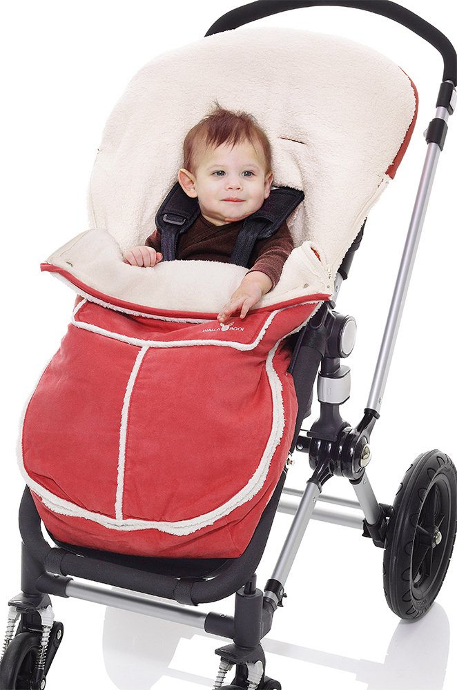 Wallaboo Footmuff, Warm and Cosy Footmuff, for 6 - 36 months, Durable Faux Suede and Soft Sheerling, Cozy and warm, Black WVN.0306.004 Baby Stroller Strollers