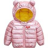 Baby puffer jacka vinter kappa med huva puffer jacka lätt ytterkläder kläder kläder