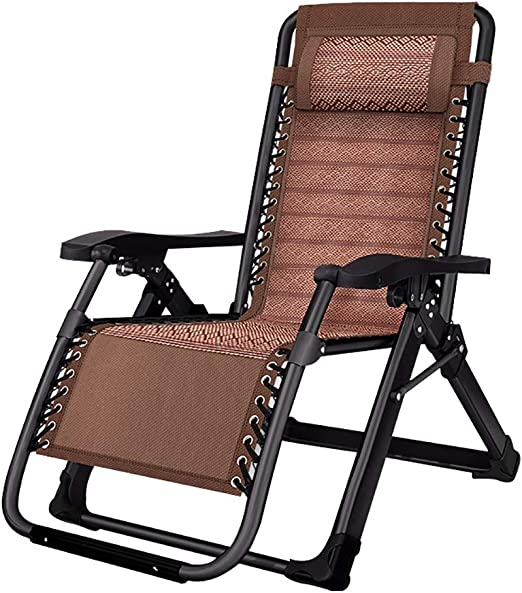 Tumbona Silla reclinable Plegable de Gravedad Cero reclinable al Aire Libre para jardín, Patio, Piscina, Soporte 200 kg: Amazon.es: Jardín