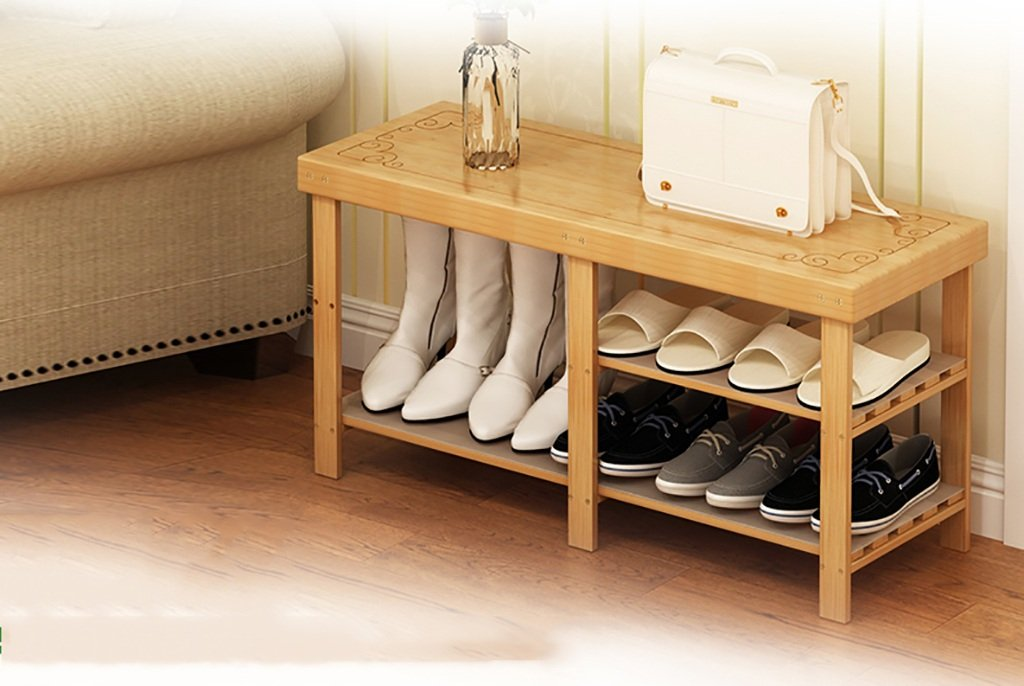 B shoes Bench Organizing Rack shoes Racks Bamboo Products DIY shoes Racks Multi - Store Shelves Multi - Functional shoes Frame Creative Simple shoes Racks (color   B)