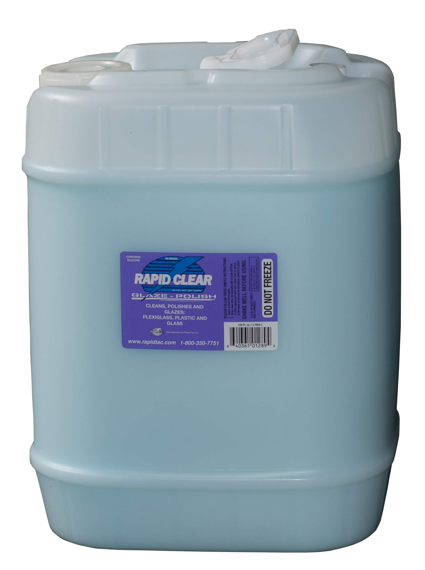 RapidTac Rapid Clear Film and Polycarbonate Polish Fluid for Any Transparent Material Including Vinyl Graphics Wraps and Decals (640 oz. (5 Gallons))