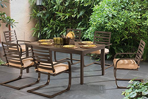 "Sunjoy 7 Piece Blessings Dining Set, 65.9"" X 37"""