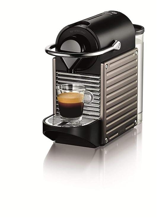 Nespresso Krups Pixie XN3005 - Cafetera monodosis de cápsulas Nespresso, 19 bares, apagado automático, color gris