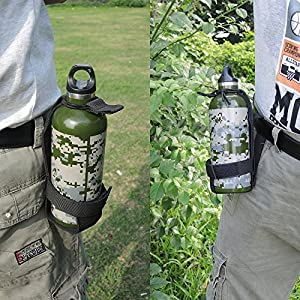 PEYOND Water Bottle Holder Belt Tactical Molle Bottle Carrier For Outdoor Walking Running Hiking Cycling