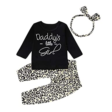 2019 Newborn Kids Baby Girls Flower Tops T-shirt Pants Skirts Outfit Clothes
