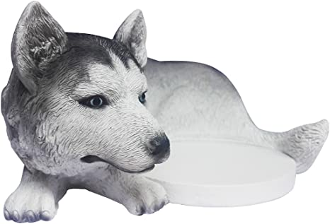 FitSand Husky Dog Crafted Statue WiFi Holder Stand Guard Station for Google WiFi System