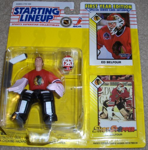 Starting Lineup Ed Belfour Chicago Blackhawks First Year Edition Action Figure 1993